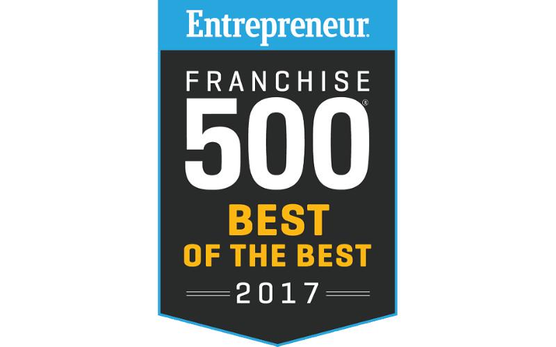 Entrepreneur Franchise 500 Best of the Best 2017